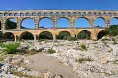 View on Pont du Gard Royalty Free Stock Photo