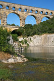 View on Pont du Gard Royalty Free Stock Photos
