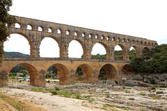 View of Pont Du Gard in France Royalty Free Stock Photos