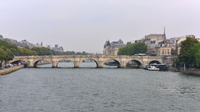View of Pont Neuf arched stone bridge in Paris Royalty Free Stock Photos
