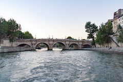 View of the Pont Neuf `New Bridge` Royalty Free Stock Images