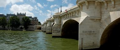 View of Pont Neuf  from the Seine Royalty Free Stock Photos