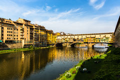 View of Pont Vecchio in Florence Stock Photo