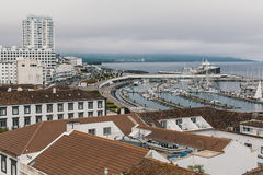 View of the Ponta Delgada - San Miguel Island, Azores Royalty Free Stock Images