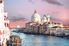 View from ponte Academia. View on Grand canal in venice from Academia bridge Royalty Free Stock Image