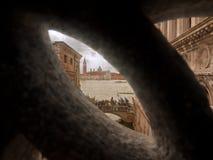 View of the Ponte dei Sospiri, Venice, Italy. View of the Ponte dei Sospiri in Venice, Italy Royalty Free Stock Photos