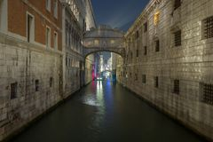 View on Ponte dei Sospiri, Venice Royalty Free Stock Photo