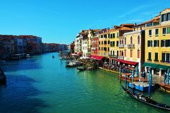 View from Ponte di Rialto bridge, Venice, Italy Stock Images