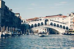 A view of Ponte di Rialto from Canal Grande - Venezia Stock Photography
