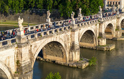 View of the Ponte Sant`Angelo in Rome Royalty Free Stock Photo