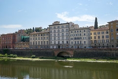 View from Ponte Vecchio bridge in Florence in Italy Royalty Free Stock Photography