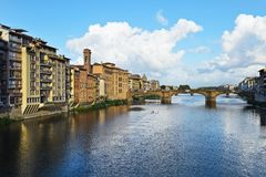 View from Ponte Vecchio in Florence. In Italy Stock Photos