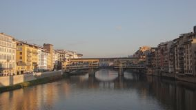 View of Ponte Vecchio. Florence stock video