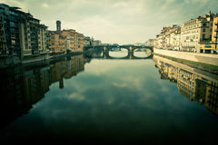 View of ponte vecchio in florence, italy Stock Photos