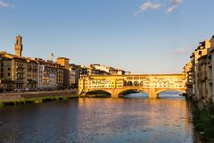 View of the Ponte Vecchio in Florence, Italy Stock Image
