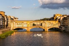 View of the Ponte Vecchio in Florence, Italy Stock Photo