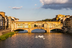 View of the Ponte Vecchio in Florence, Italy Stock Photos