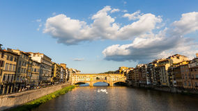 View of the Ponte Vecchio in Florence, Italy Stock Images