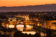 View of the Ponte Vecchio in Florence, Italy Royalty Free Stock Photography