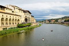 View from Ponte Vecchio in Florence. Italy Royalty Free Stock Images