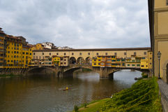 View of The Ponte Vecchio Old Bridge , Firenze Royalty Free Stock Photography