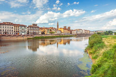 View of Ponte Vecchio with reflections in Arno River, Florence, Royalty Free Stock Photo