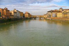 View on Ponte Veccio in Florence Stock Photos