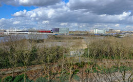 View from Pontoon Dock looking towards Excel, London Stock Images