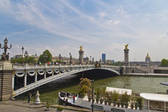 View of ponts Alexandre III Paris Royalty Free Stock Photography