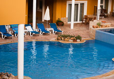 View of the pool  in hotel Stock Images
