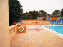 View of the pool and lifebuoy Stock Photos