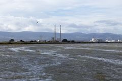 View of Poolbeg Towers from Clontarf Royalty Free Stock Image