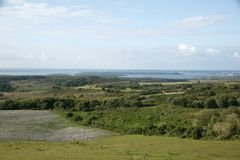 View of Poole Harbour, Dorset, UK. View of Poole Harbour in Purbeck, Dorset, UK Royalty Free Stock Photos
