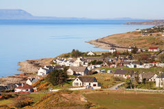 View of Poolewe Village, Scotland Stock Photo
