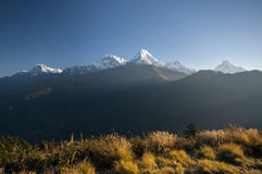 View from Poon Hill. Nepal royalty free stock photos