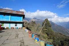 View of Poon Hill in Nepal Stock Image