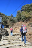 View of Poon Hill in Nepal Royalty Free Stock Photography