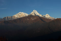 View from poonhill trek, in Nepal Stock Photo