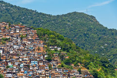 View of Poor Living Area in Rio de Janeiro Royalty Free Stock Photo