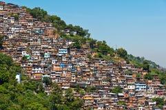 View of Poor Living Area in Rio de Janeiro. View of Poor Living Area on the Hills of Rio de Janeiro, Brazil Royalty Free Stock Photos