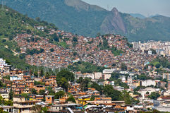 View of Poor Living Area in Rio de Janeiro. View of Poor Living Area on the Hills of Rio de Janeiro, Brazil stock photo