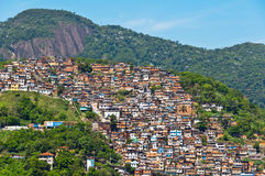 View of Poor Living Area in Rio de Janeiro. View of Poor Living Area on the Hills of Rio de Janeiro, Brazil Royalty Free Stock Photo