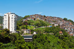 View of Poor Living Area in Rio de Janeiro Royalty Free Stock Photos