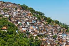 View of Poor Living Area in Rio de Janeiro. View of Poor Living Area on the Hills of Rio de Janeiro, Brazil Stock Photos