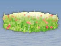 Spring under winter vector illustration