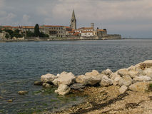 A view on Porec, Croatia. One of the many old cities on the shore of Mediterranean Sea. Located on Istria peninsula, Porec has a strong Venetian influence in Stock Image