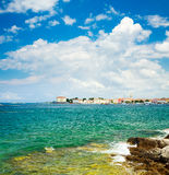View of Porec from the Sea. Croatia Travel. Stock Image