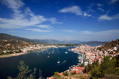 View on Poros and Galatos. Greece Stock Images