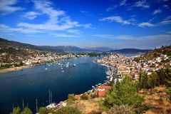 View on Poros and Galatos Royalty Free Stock Photos