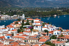 View on Poros and Galatos. Greece Royalty Free Stock Photography